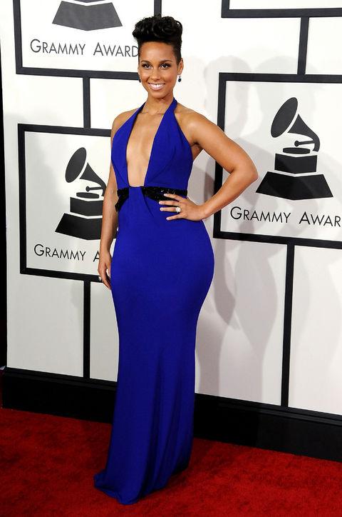 alicia-keys-blue-dress-grammys-red-carpet-best-dressedAlicia Keys Grammy Dress