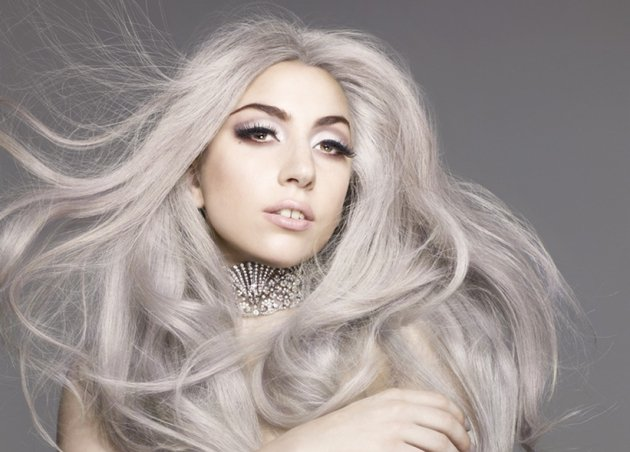 Lady Gaga Gray Hair Color