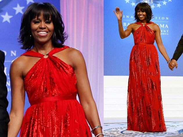 Michelle Obama Jason Wu Red Halter Dress