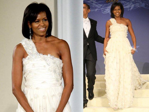 Michelle Obama Jason Wu White Gown
