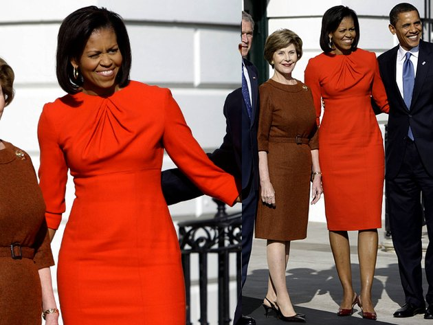 Michelle Obama Maria Pinto Red Dress